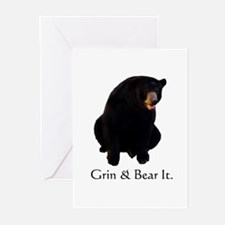 grin & bear it Greeting Cards (Pk of 10)