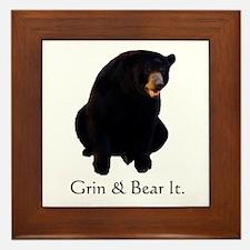 grin & bear it Framed Tile