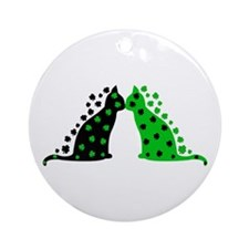 Irish Cats Ornament (Round)
