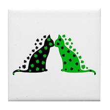 Irish Cats Tile Coaster