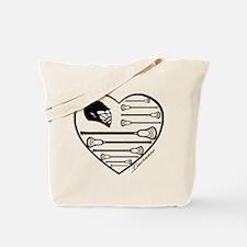 Lacrosse_HeartHelmFlag.png Tote Bag
