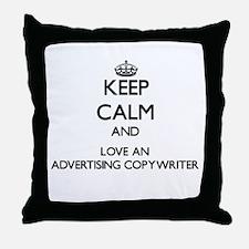 Keep Calm and Love an Advertising Copywriter Throw