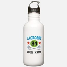 Lacrosse Player Personalized Sports Water Bottle