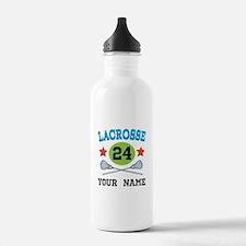 Lacrosse Player Personalized Water Bottle