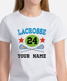 Lacrosse Player Personalized Women's T-Shirt