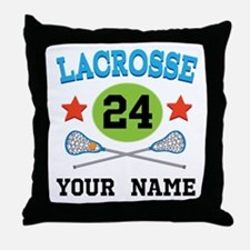Lacrosse Player Personalized Throw Pillow