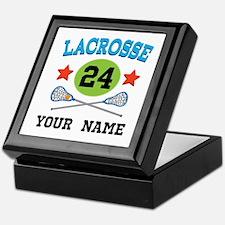 Lacrosse Player Personalized Keepsake Box