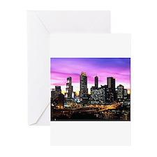 Cute Atlanta skyline Greeting Cards (Pk of 10)