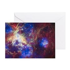 Colorful Space Greeting Card