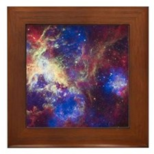 Colorful Space Framed Tile
