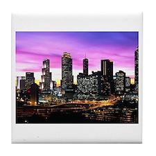 Cute Atlanta skyline Tile Coaster