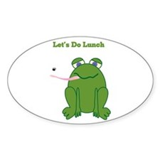 Let's Do Lunch Oval Decal