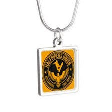 Breck Halfpipers Union Gold Silver Square Necklace