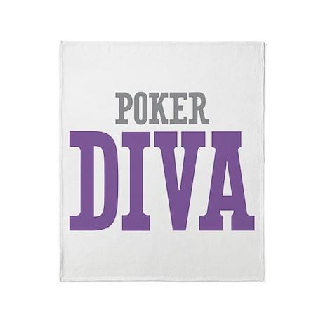 Poker DIVA Throw Blanket