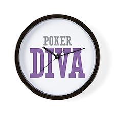 Poker DIVA Wall Clock
