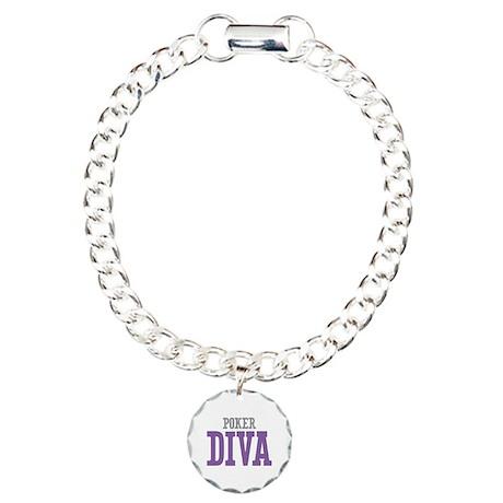 Poker DIVA Charm Bracelet, One Charm