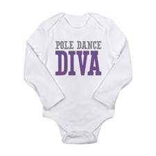 Pole Dance DIVA Long Sleeve Infant Bodysuit