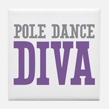 Pole Dance DIVA Tile Coaster