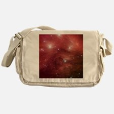 Space, Red Messenger Bag