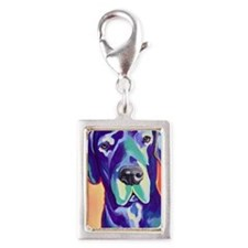 Great Dane - Gus with Black  Silver Portrait Charm