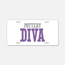 Pottery DIVA Aluminum License Plate