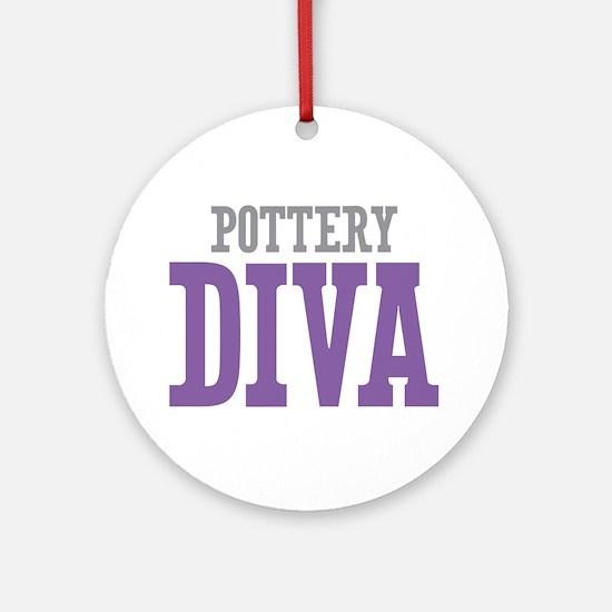 Pottery DIVA Ornament (Round)