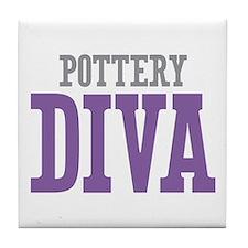 Pottery DIVA Tile Coaster