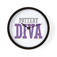 Pottery DIVA Wall Clock