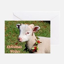 Christmas Wishes Lamb Greeting Cards