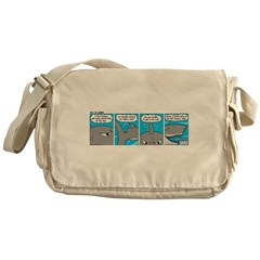 Shark and Remora Messenger Bag