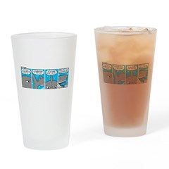 Shark and Remora Drinking Glass