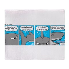 Shark and Remora Throw Blanket