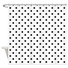 black and white polka dots Shower Curtain
