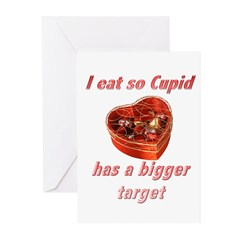 Cupid's Target Greeting Cards (Pk of 10)