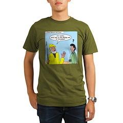 Whaling Wall Ahab Organic Men's T-Shirt (dark)