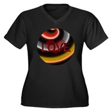 Love Women's Plus Size Dark V-Neck T-Shirt