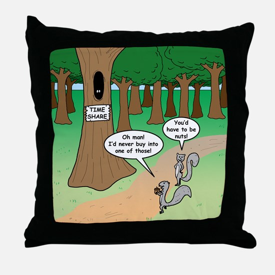Forest Time Share Throw Pillow
