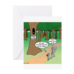 Forest Time Share Greeting Card