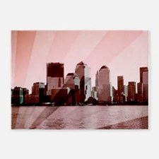 new york pink 5'x7'Area Rug