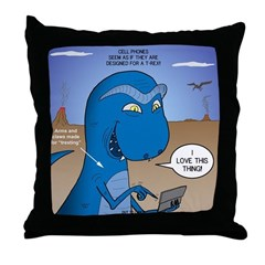 T-Rex Mobile Throw Pillow