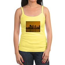 new york skyline golden Tank Top