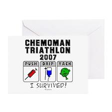 2007 Chemoman Triathlon Greeting Cards (Package of