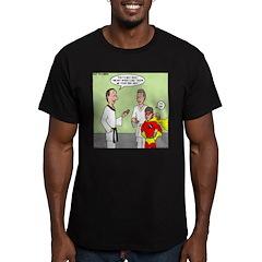 Karate Side Kick Men's Fitted T-Shirt (dark)