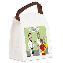 Karate Side Kick Canvas Lunch Bag