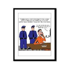 Death Row Tech Support Framed Panel Print