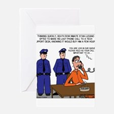 Death Row Tech Support Greeting Card