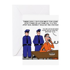Death Row Tech Support Greeting Cards (Pk of 20)