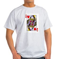 Queen of Hearts Ash Grey T-Shirt