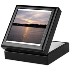 Sunset over Covey Island Keepsake Box