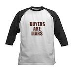 Buyers are Liars Kids Baseball Jersey